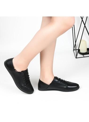 Pandora Hs096 Orto Pedik Deri Bayan Günlük Ayakkabı Siyah